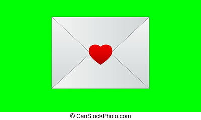 Congratulatory envelope for Valentines Day. Unread love message for your website