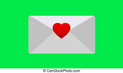 Congratulatory envelope for Valentine's Day. Unread love message for your website