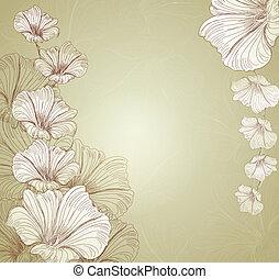 congratulatory vector floral background