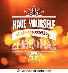 congratulazione,  -,  calligraphic, invito, vettore, Natale, Scheda