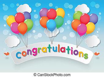 congratulazioni, palloni