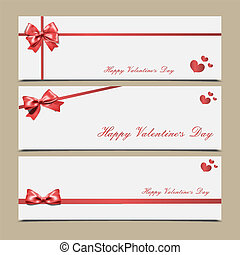 congratulazioni, valentina, day., s, nastro, buste, rosso, templates.