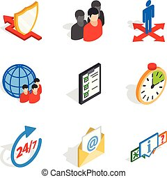 Congregation icons set, isometric style - Congregation icons...
