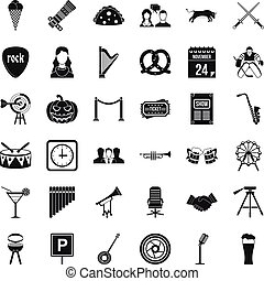 Congregation icons set, simple style - Congregation icons...