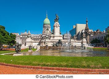 congreso, nacional, edificio, buenos, argentina, aires