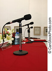 Congress - Conference room with microphones on the table