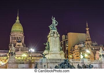Congress Square in Buenos Aires, Argentina - Congress Square...