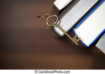 conhecimento, é, a, chave de sucesso