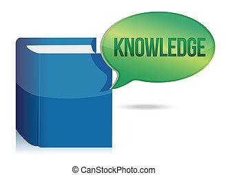conhecimento, livro, ilustração, conceito