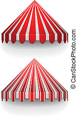 conical awnings - detailed illustration of conical awnings
