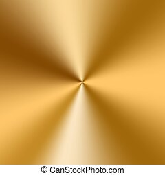 Conical golden gradient - Bright gold metal plate for...
