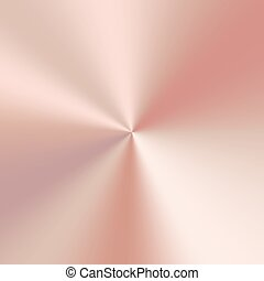 Conical metal gradient - Conical gradient with a pink gold...