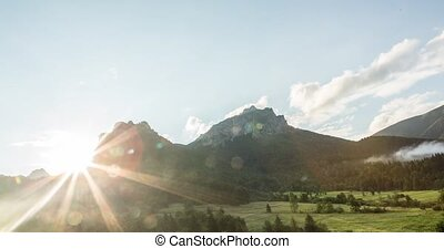 Coniferous forest and rocky hill, Slovakia