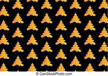 Golden tree on a black background