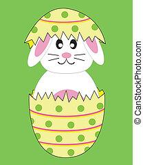 coniglio coniglietto, in, uovo di pasqua