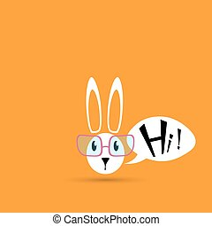 coniglio pasqua, animale, cartone animato