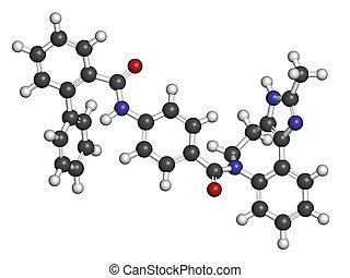 Conivaptan hyponatremia drug molecule. Inhibitor of...