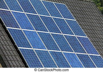 conjugal, panneaux solaires