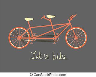 conjuntamente bicicleta