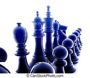 conjunto, ajedrez