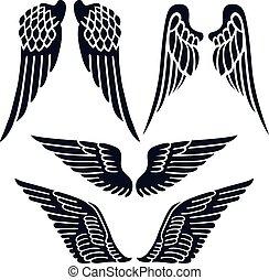 conjunto, alas, ángel