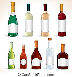 conjunto, alcohol