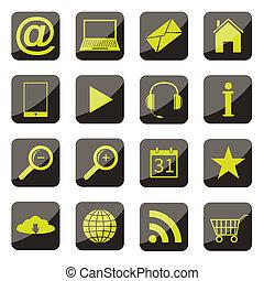 conjunto, apps, icono