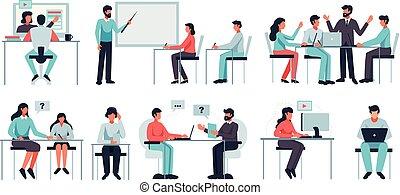 conjunto, aprendizaje, en línea
