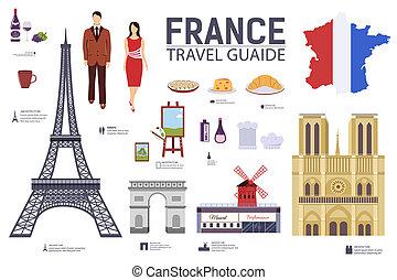 conjunto, arquitectura, infographic, diseño, bienes, tela,...