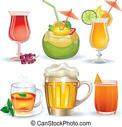 conjunto, bebidas