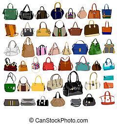 conjunto, bolsas, bolsas