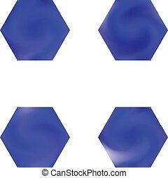 conjunto, chromatic, hexagonal, backgrounds.