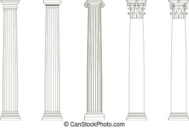 conjunto, columnas