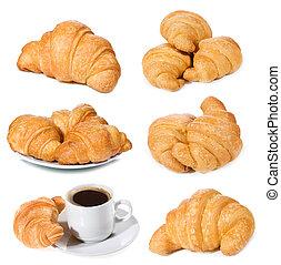 conjunto, con, croissants