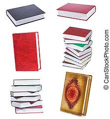 conjunto, con, libros