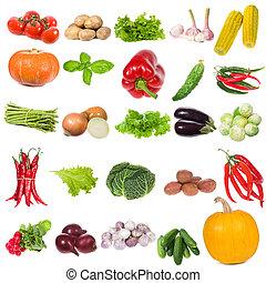 conjunto, con, vegetales
