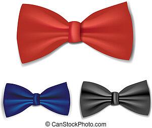 conjunto, corbata de moño