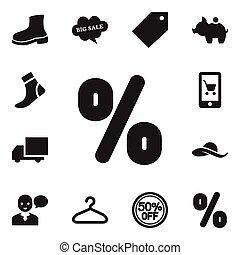 conjunto, de, 12, editable, compras, icons., incluye, símbolos, tal, como, reembolso, etiqueta, entrega, y, more., lata, ser, utilizado, para, tela, móvil, ui, y, infographic, design.