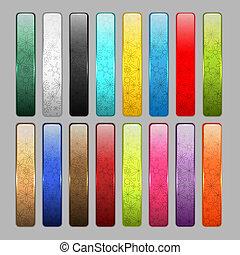 conjunto, de, brillante, botón, iconos, para, su, diseño