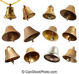 conjunto, de, campanas