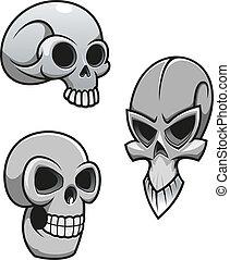 conjunto, de, cráneos