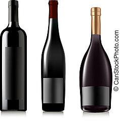 conjunto, de, diferente, drinks., vector