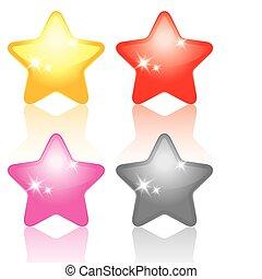 conjunto, de, estrellas