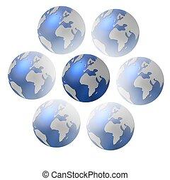 conjunto, de, globos