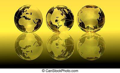 conjunto, de, globos, plano de fondo