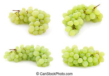 conjunto, de, imágenes, con, uvas