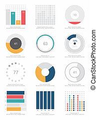 conjunto, de, infographic, elementos