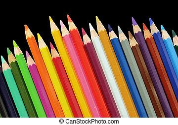 conjunto, de, lápices