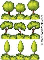 conjunto, de, líneas de árbol