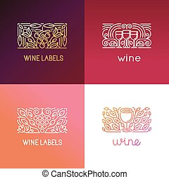 conjunto, de, logotipo, diseñe elementos